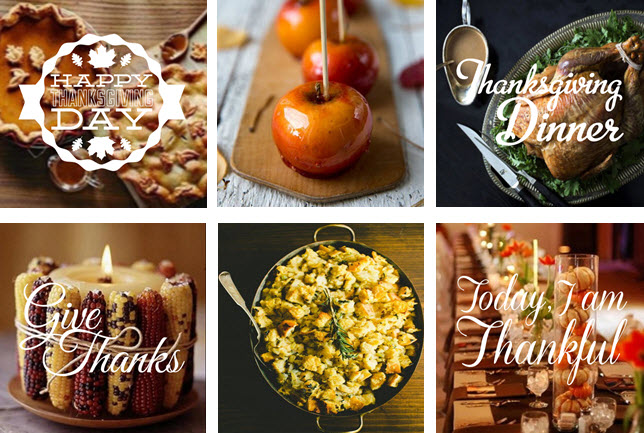 Thanksgiving Photo Stickers