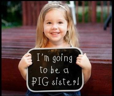 big sister pregnancy announcement