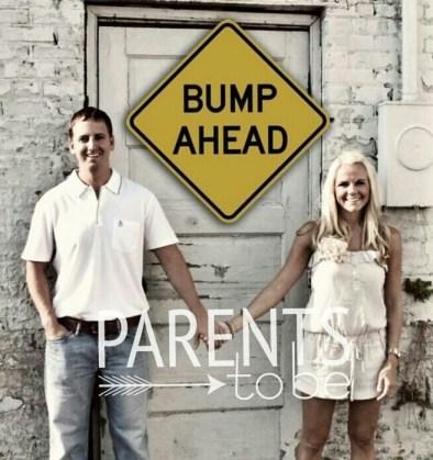 Bump Ahead Pregnancy Announcement